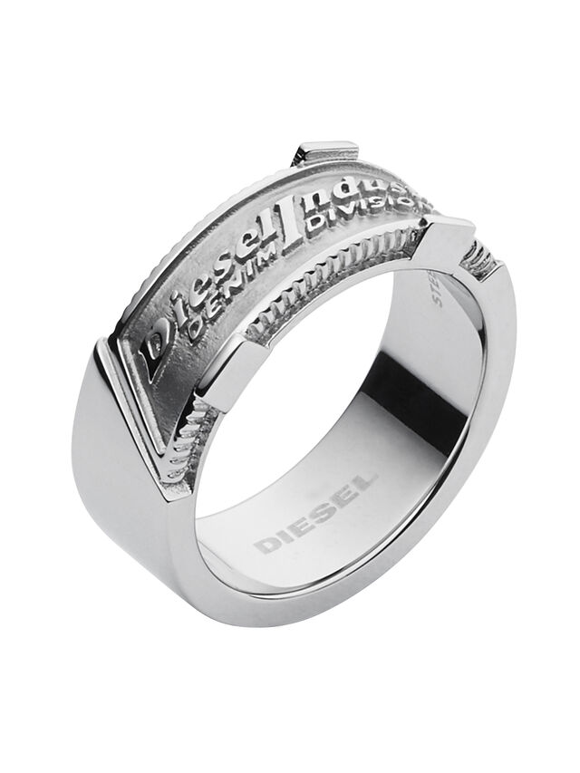 Diesel - RING DX1037, Argento - Anelli - Image 1