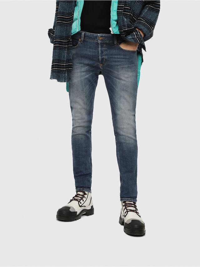 Diesel - Sleenker 082AB, Blu Scuro - Jeans - Image 1