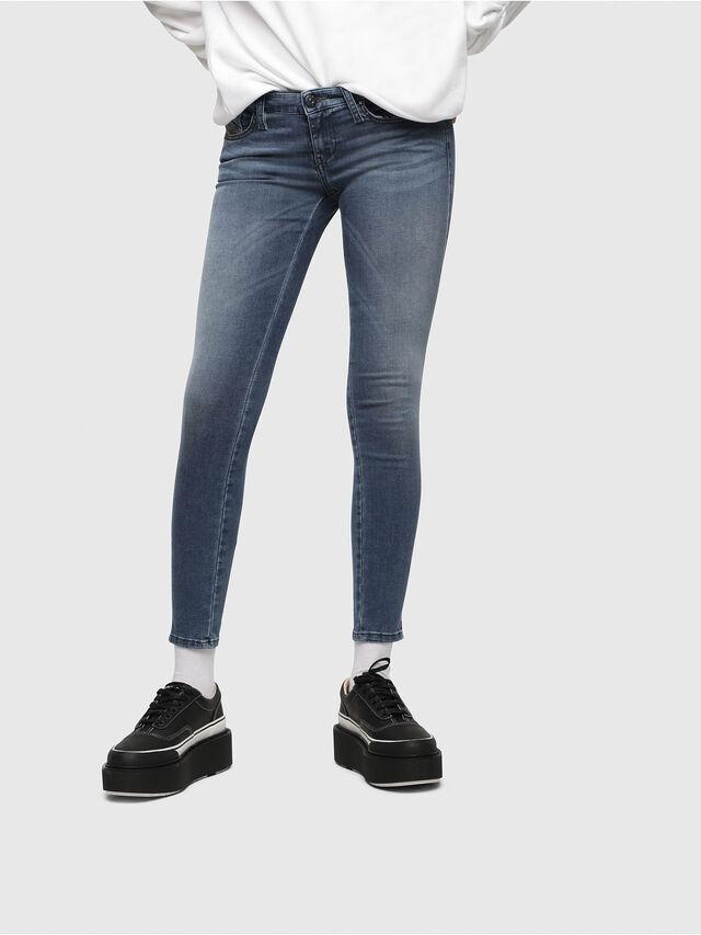 Diesel - Skinzee Low Zip 0681P, Blu medio - Jeans - Image 1