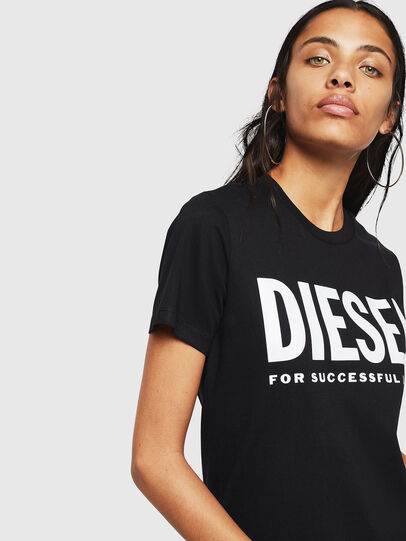 Diesel - T-SILY-WX, Nero - T-Shirts - Image 3