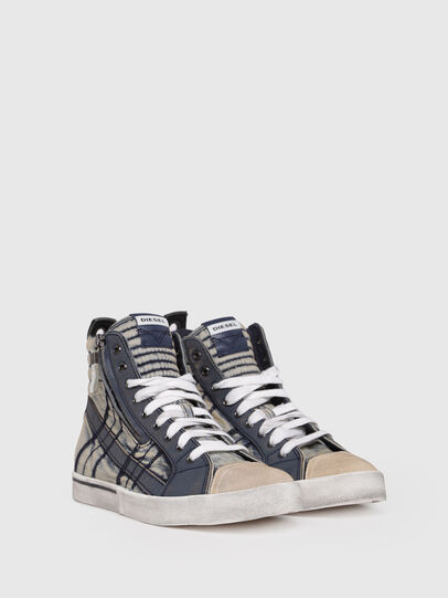 Diesel - D-VELOWS MID LACE, Blu Jeans - Sneakers - Image 2