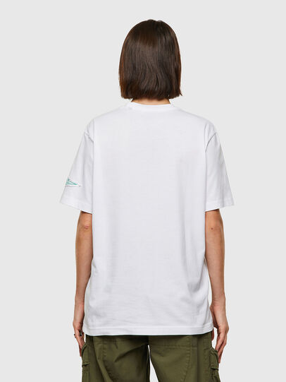 Diesel - T-JUST-B61, Bianco - T-Shirts - Image 4