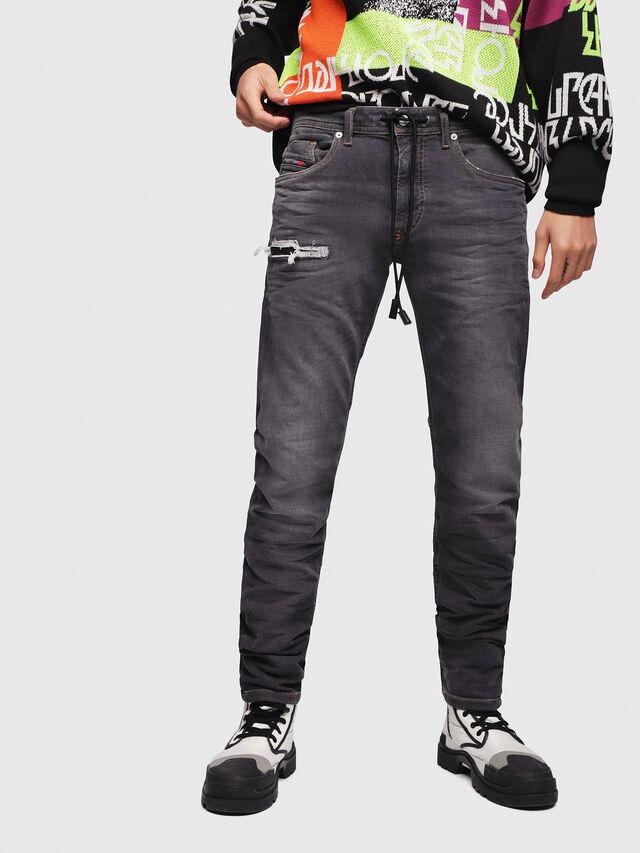Diesel - Thommer JoggJeans 069EM, Nero/Grigio scuro - Jeans - Image 1