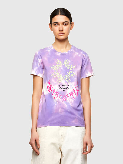 Diesel - T-SILY-A12, Lilla - T-Shirts - Image 1
