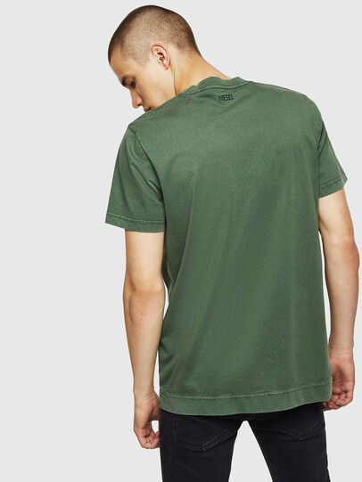 Diesel - T-THEA, Verde Scuro - T-Shirts - Image 2