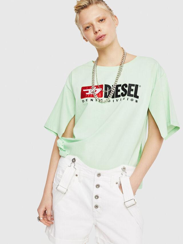 Diesel - T-JACKY-D, Verde Fluo - T-Shirts - Image 1