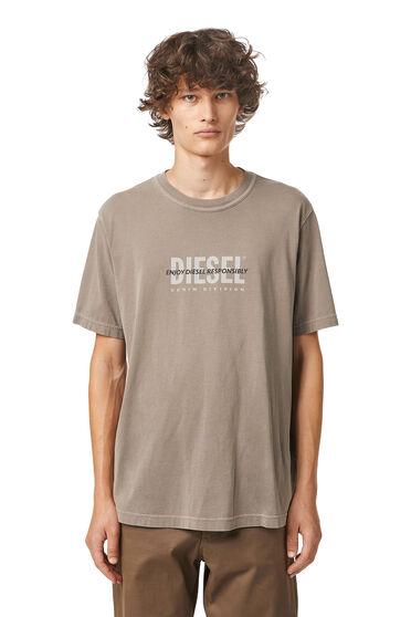 T-shirt Green Label stampata