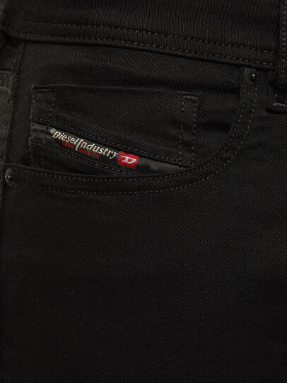 Diesel - Sleenker 069EI, Nero/Grigio scuro - Jeans - Image 4