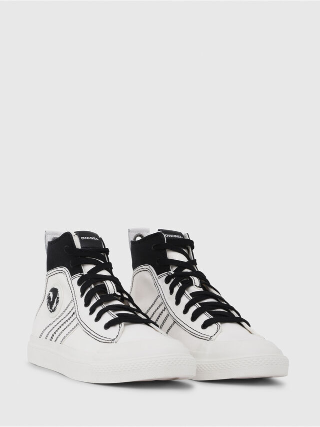Diesel - S-ASTICO MID LACE, Bianco/Nero - Sneakers - Image 2