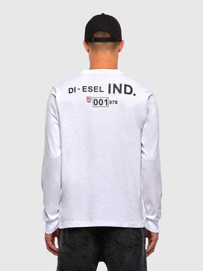 Diesel - T-JUST-LS-N62, Bianco - T-Shirts - Image 2