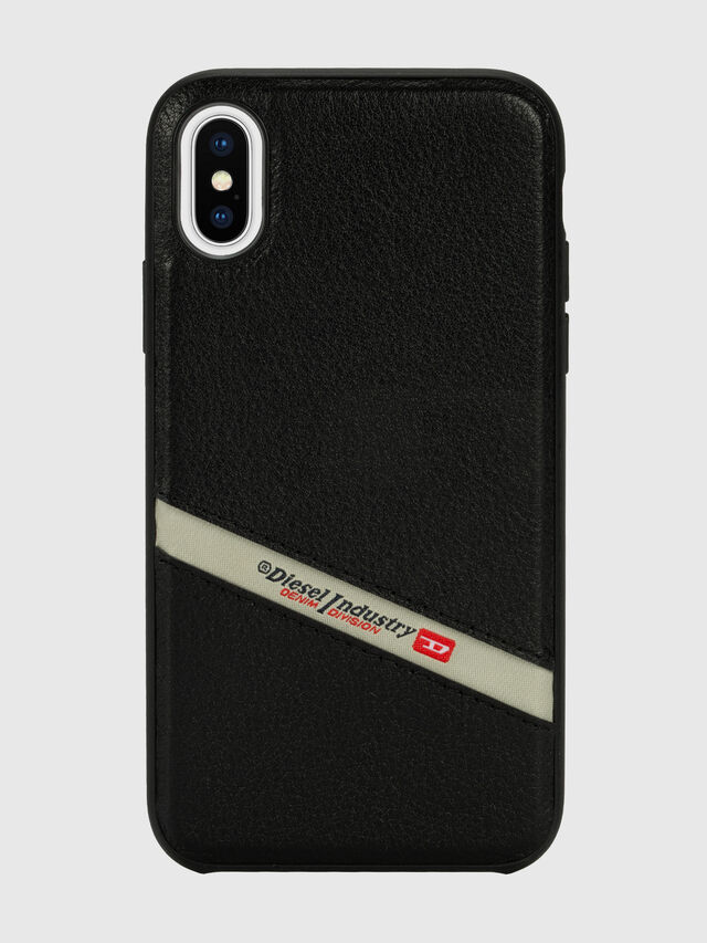 Diesel - DIESEL LEATHER CO-MOLD CASE FOR IPHONE XS & IPHONE X, Nero - Cover - Image 2