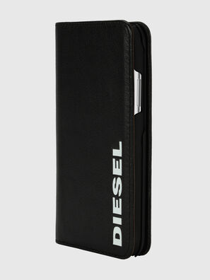 DIESEL 2-IN-1 FOLIO CASE FOR IPHONE XS & IPHONE X, Nero/Bianco - Cover a libro