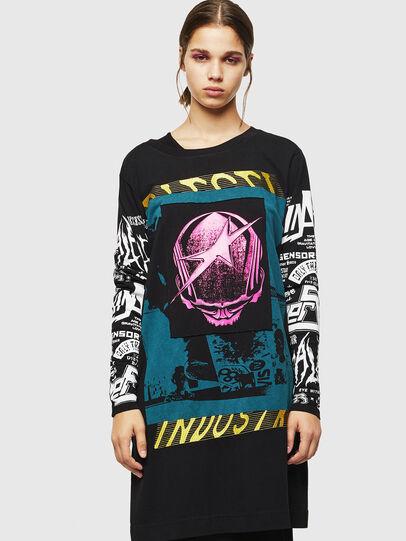 Diesel - T-PAISS, Nero - T-Shirts - Image 1