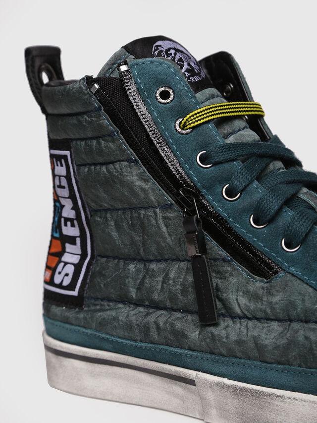 Diesel - D-VELOWS MID PATCH, Verde Acqua - Sneakers - Image 4