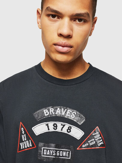 Diesel - PS-T-JUST-RIBS,  - T-Shirts - Image 5