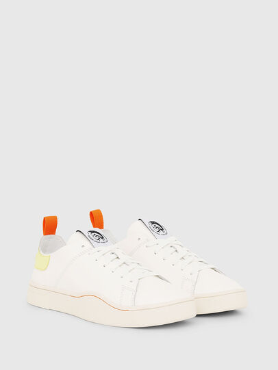 Diesel - S-CLEVER LS W, Bianco/Giallo - Sneakers - Image 2