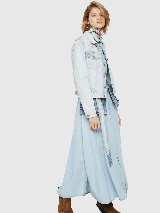 Diesel - DE-VELVET, Blu Jeans - Giacche in denim - Image 3