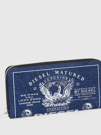 Diesel - 24 ZIP, Blu - Portafogli Con Zip - Image 4