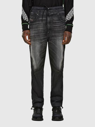 Diesel - D-Skint JoggJeans 069PC, Nero/Grigio scuro - Jeans - Image 1