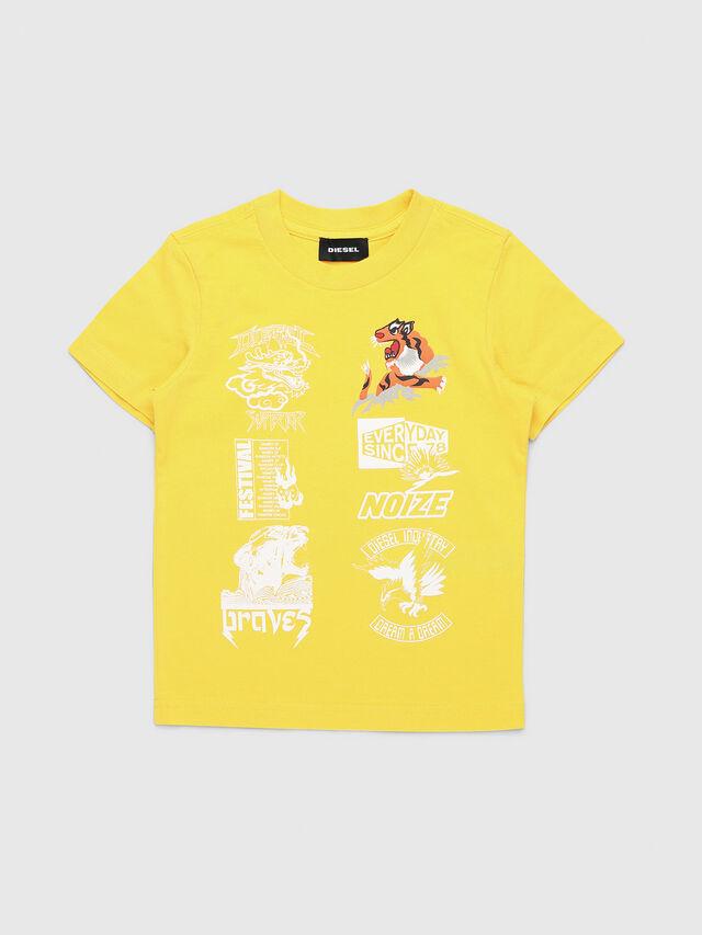 Diesel - TUCSEB-R, Giallo - T-shirts e Tops - Image 1