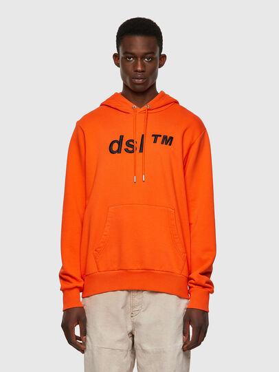 Diesel - S-GIRK-HOOD-B4, Arancione - Felpe - Image 1