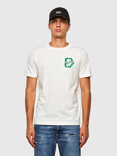 Diesel - T-JUST-N40, Bianco - T-Shirts - Image 1