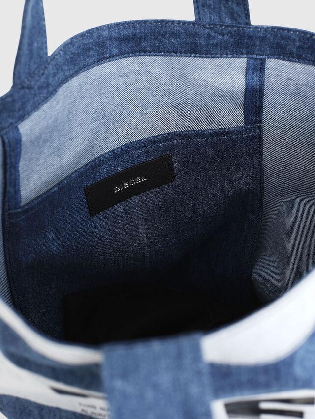 Diesel - F-THISBAG SHOPPER NS, Blu Jeans - Shopper e Borse a Spalla - Image 3