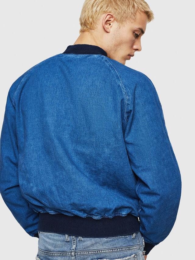 Diesel - D-BAK, Blu Jeans - Giacche in denim - Image 6
