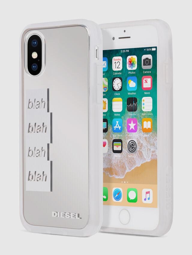 Diesel - BLAH BLAH BLAH IPHONE X CASE, Bianco/Argento - Cover - Image 1