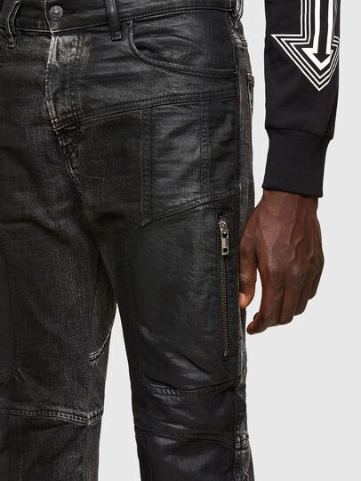 Diesel - D-Vider 009QZ, Nero/Grigio scuro - Jeans - Image 3