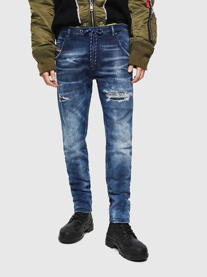 Diesel - Krooley JoggJeans 0097N, Blu Scuro - Jeans - Image 1