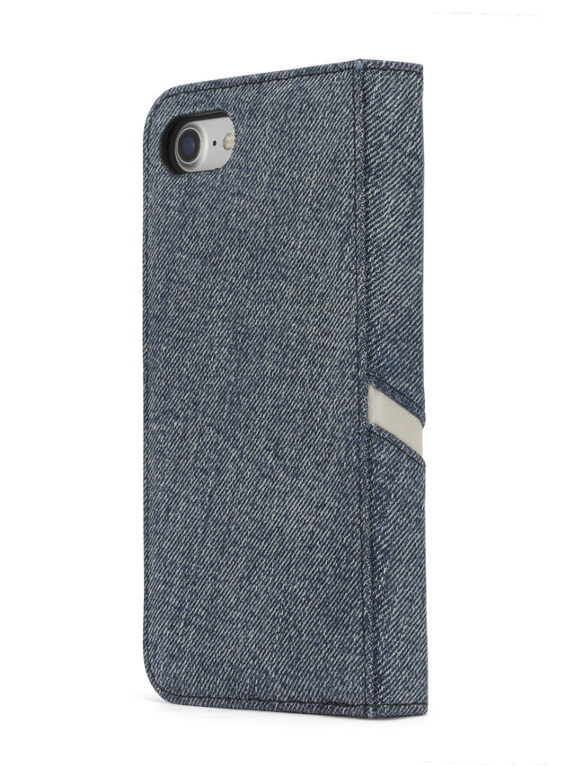Diesel - DENIM IPHONE 8/7 FOLIO, Blu Jeans - Cover a libro - Image 5