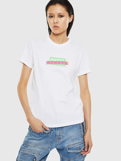 Diesel - T-SILY-S2, Bianco - T-Shirts - Image 1