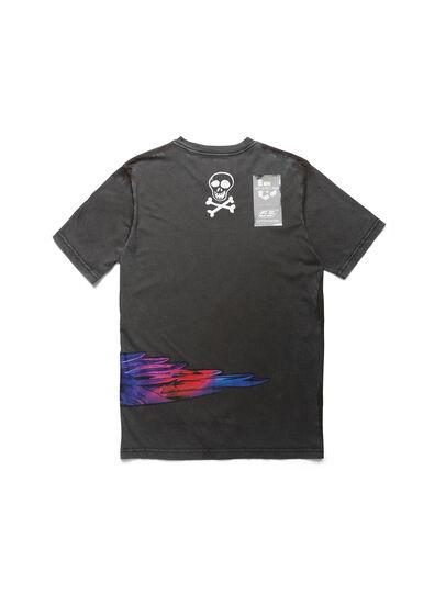 Diesel - D-5055-G, Nero - T-Shirts - Image 2