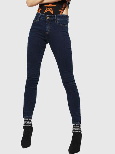 Diesel - Slandy Zip 083AM, Blu Scuro - Jeans - Image 1