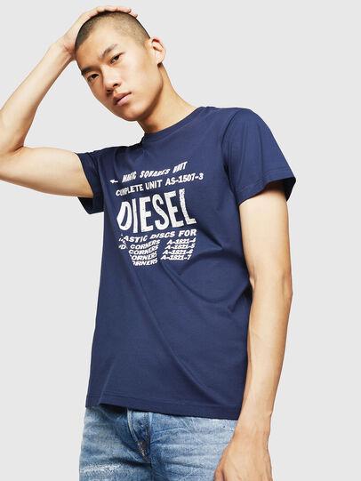 Diesel - T-DIEGO-B6, Blu - T-Shirts - Image 1