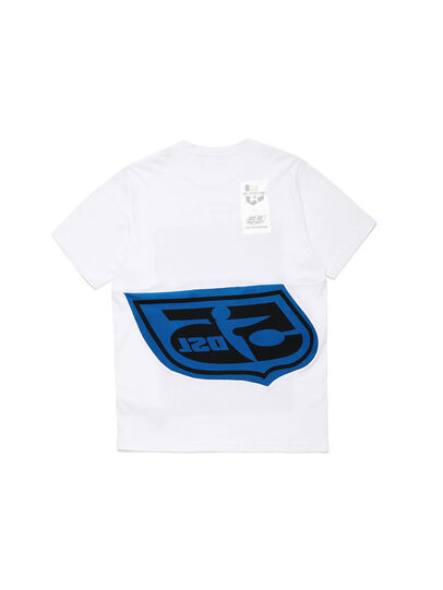 Diesel - D-SHIELD-BLU, Bianco - T-Shirts - Image 2