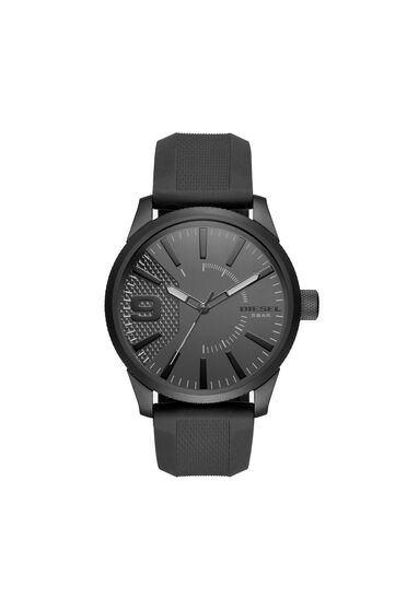 Rasp orologio total black con cinturino in silicone, 46 mm