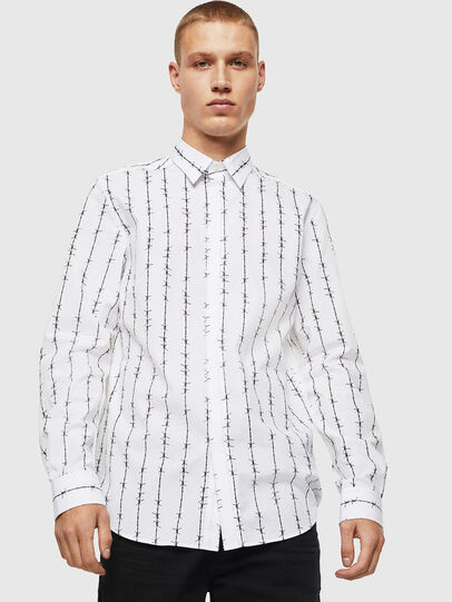 Diesel - S-BARBWI, Bianco - Camicie - Image 1