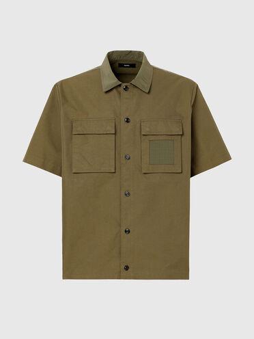 Camicia in twill e nylon