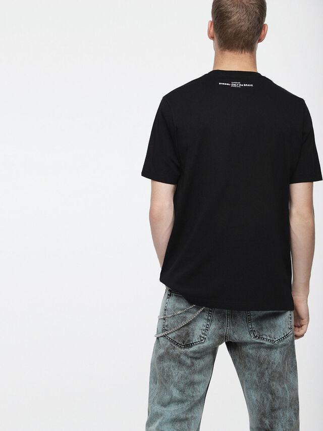 Diesel - T-JUST-XV, Nero - T-Shirts - Image 2