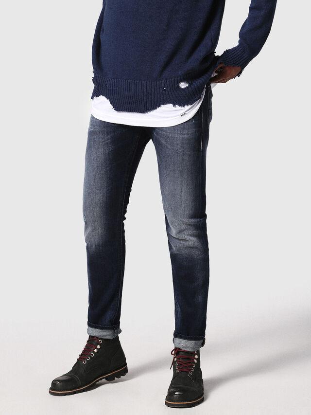 Diesel - Thommer 0860L, Blu Scuro - Jeans - Image 1