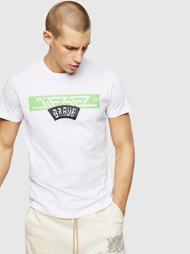 Diesel - T-DIEGO-A1, Bianco - T-Shirts - Image 1