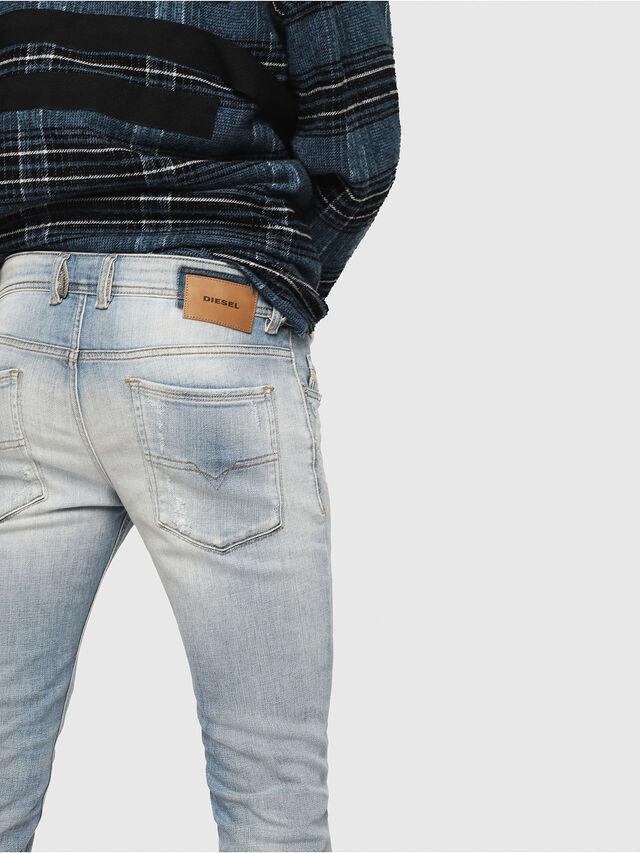 Diesel - Sleenker 081AJ, Blu Chiaro - Jeans - Image 4