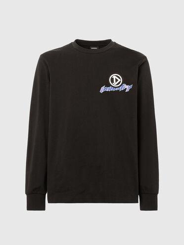 T-shirt a maniche lunghe con stampe stile racer
