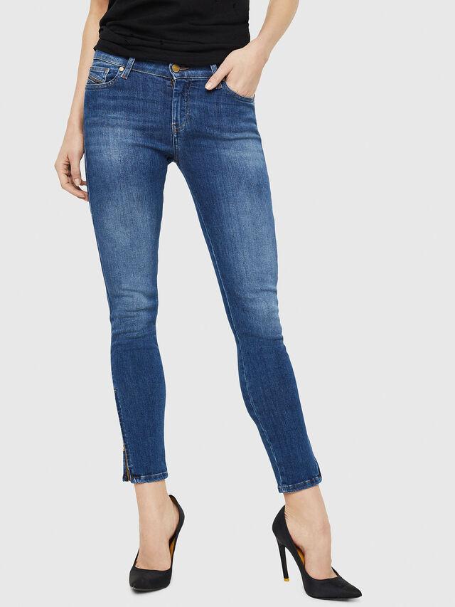 Diesel - Slandy Zip 088AU, Blu medio - Jeans - Image 1