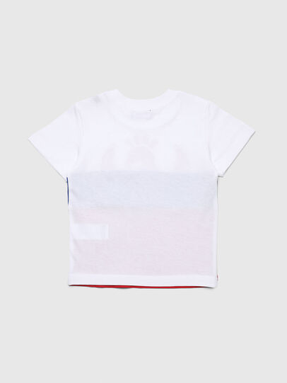 Diesel - TRICKYB-R, Bianco/Rosso/Blu - T-shirts e Tops - Image 2