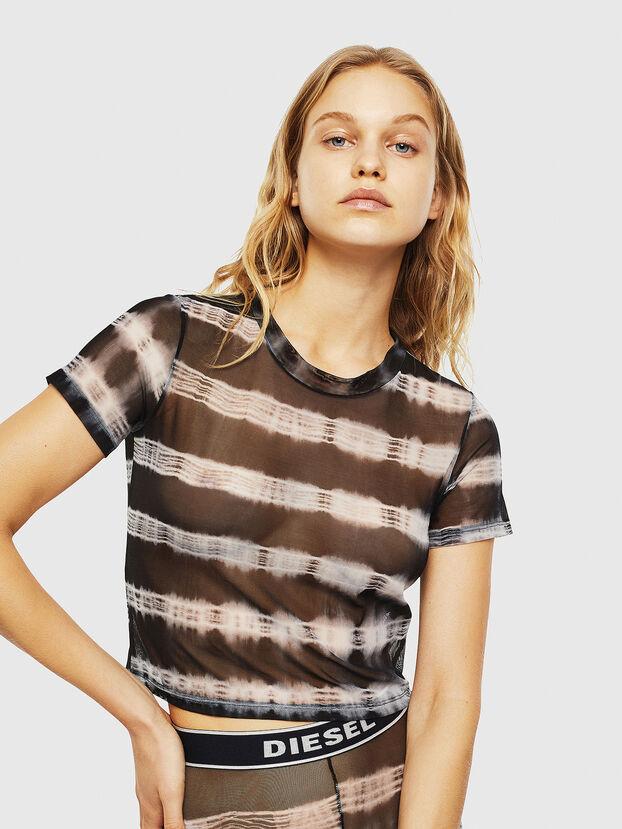 UFTEE-ROUNDFEM-M, Nero/Bianco - T-Shirts