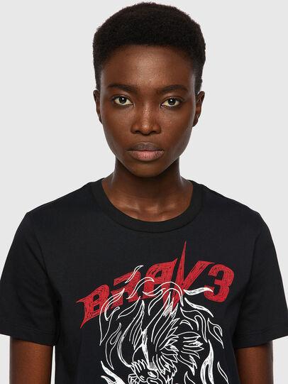 Diesel - T-SILY-B2, Nero - T-Shirts - Image 3
