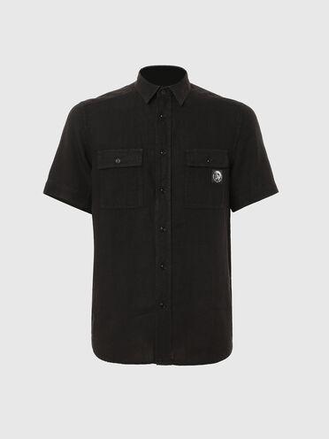 Camicia in lino tinta in capo
